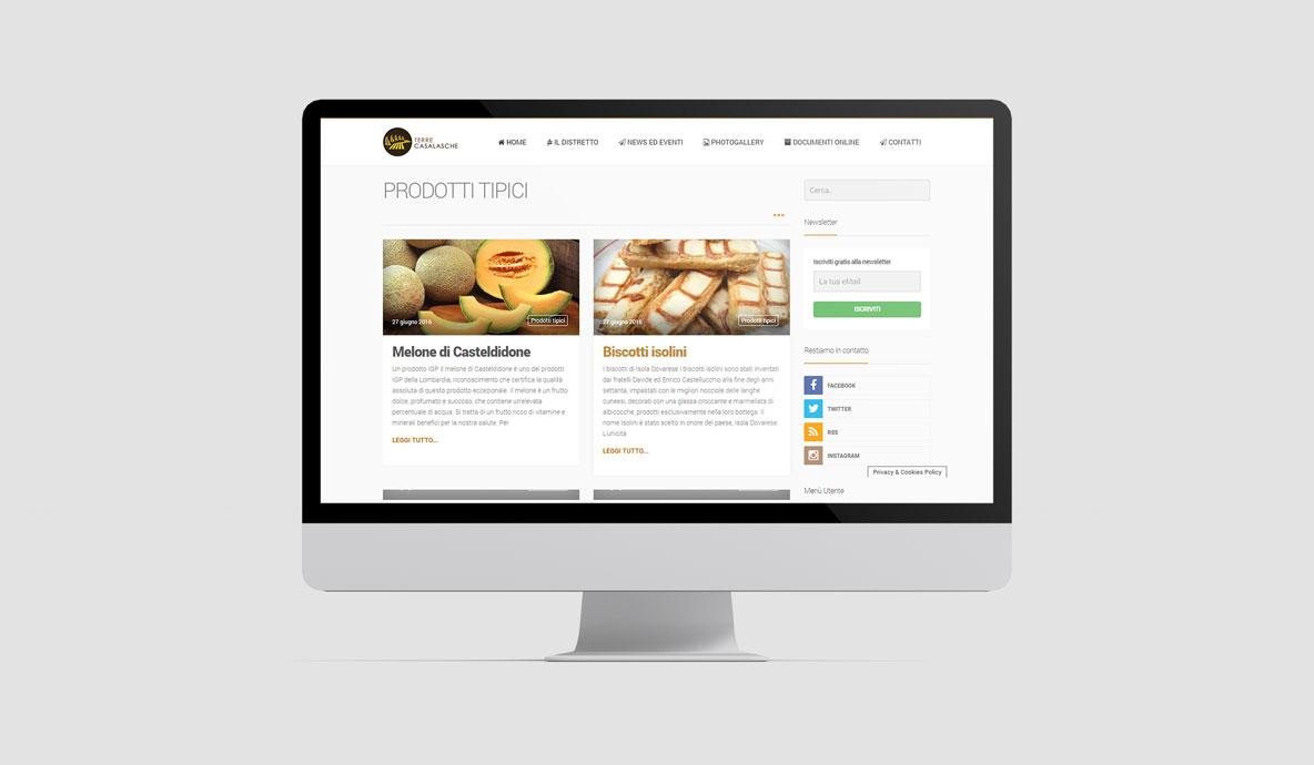 Realizzazione siti internet - Distretto Terre Casalasche - Sezione Prodotti Tipici