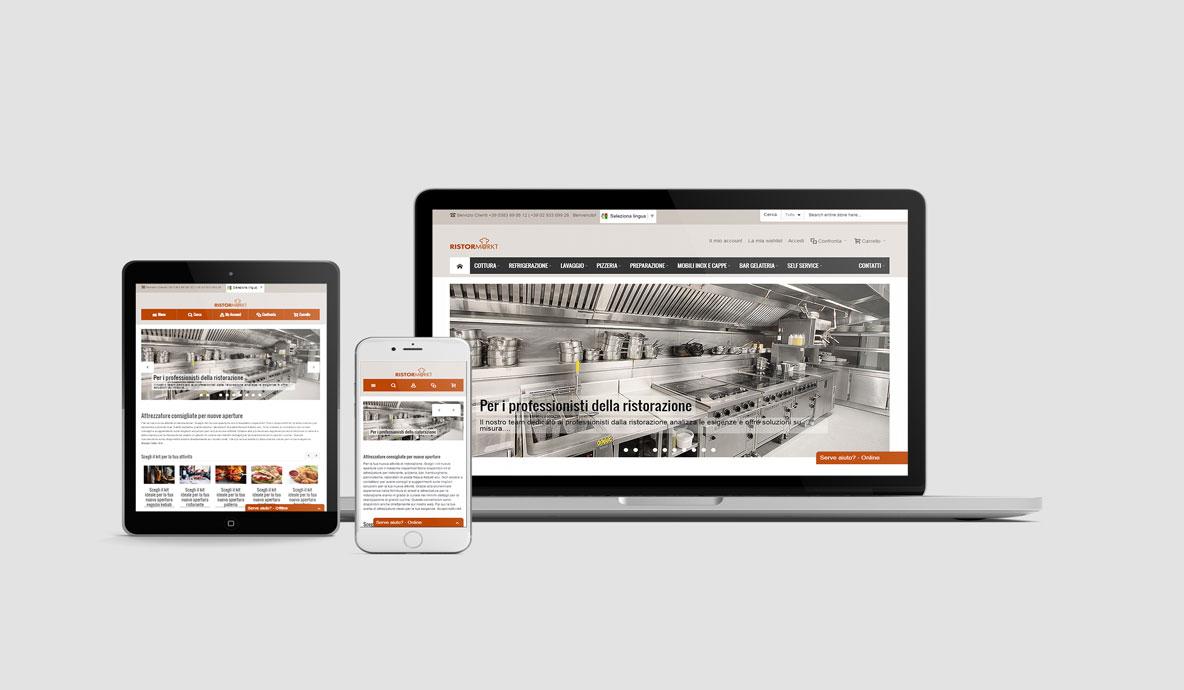 Realizzazione siti internet. Ristormarkt.it - Homepage multidevice