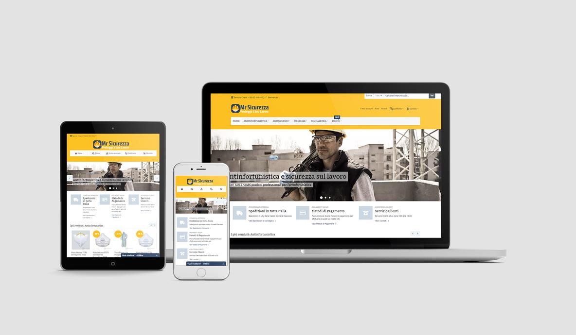 Realizzazione eCommerce - MrSicurezza.com - Homepage multidevice