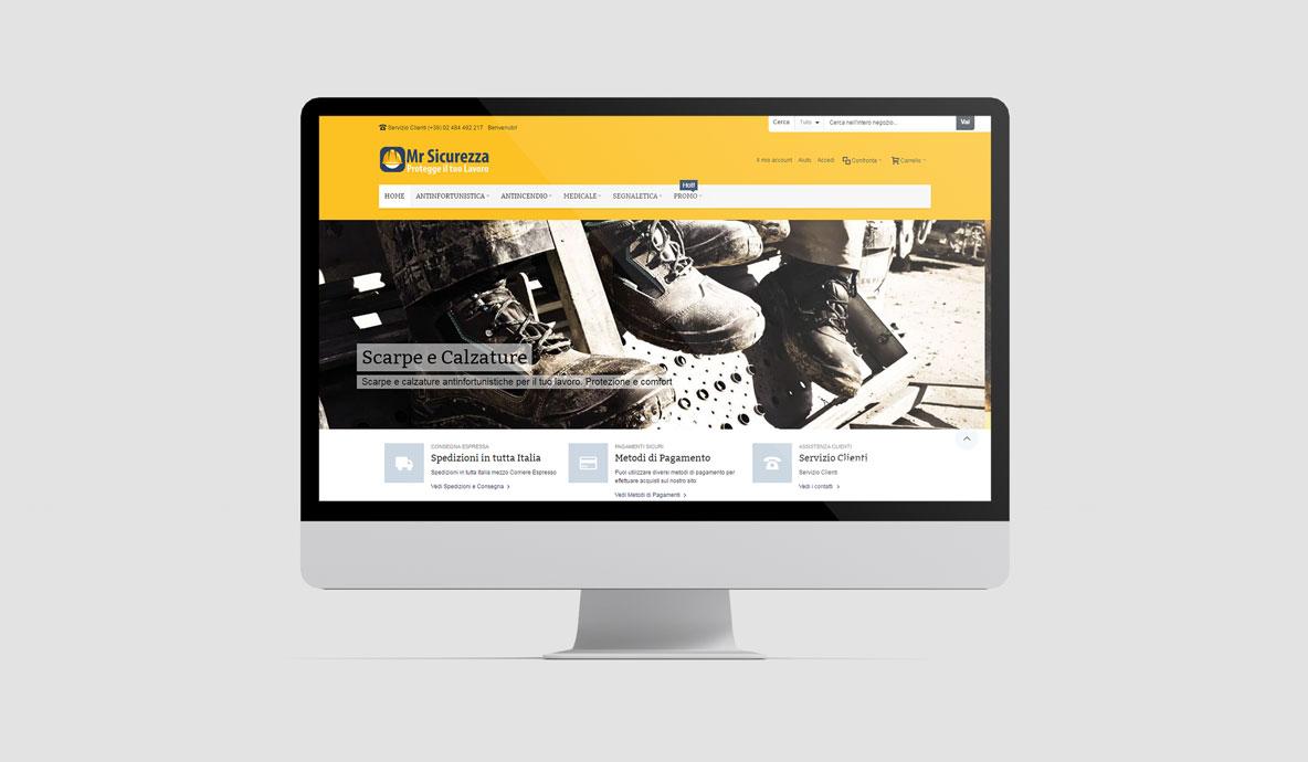 Realizzazione eCommerce - MrSicurezza.com - Homepage