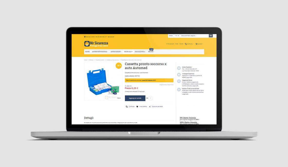 Realizzazione eCommerce - MrSicurezza.com - Pagina prodotto