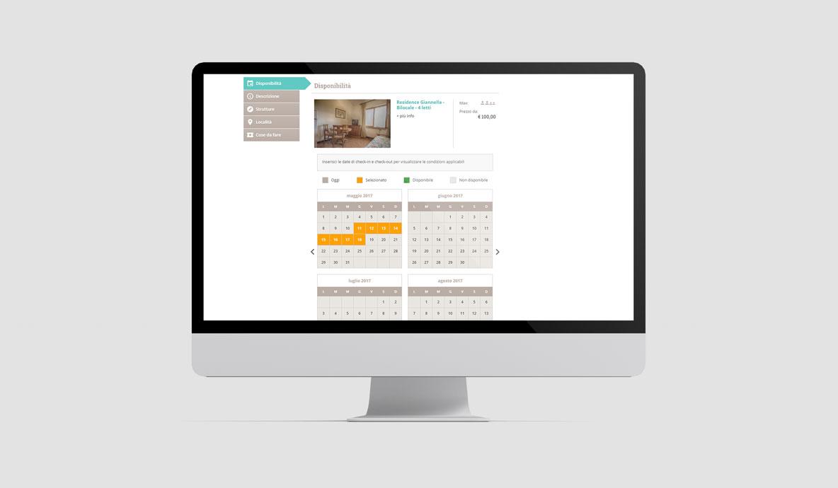 Realizzazione siti booking online - Toscanazzurra - Pagina di selezione date soggiorno