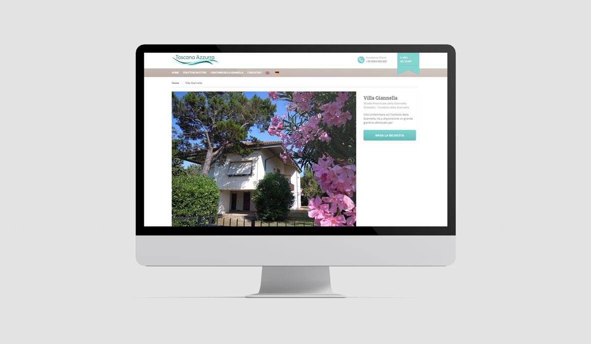 Realizzazione siti booking online - Toscanazzurra - Pagina struttura ricettiva