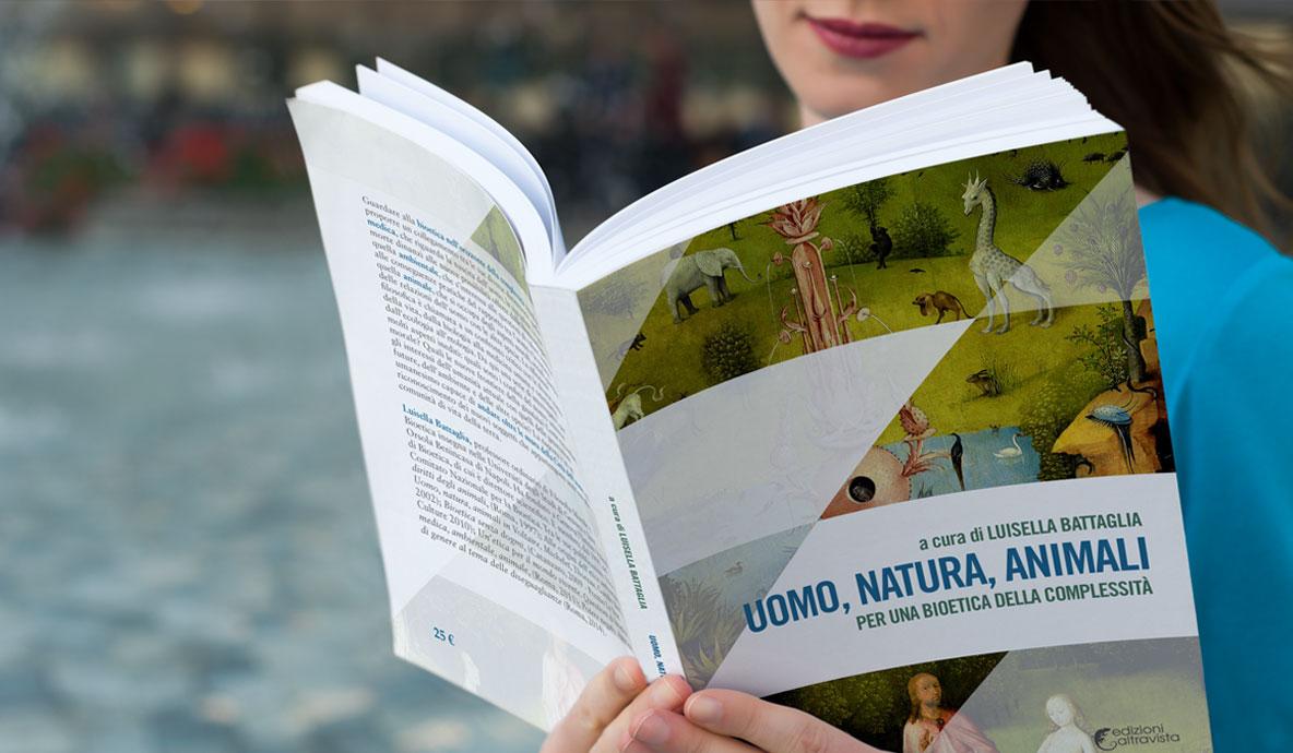Copertina del libro Uomo, natura, animali