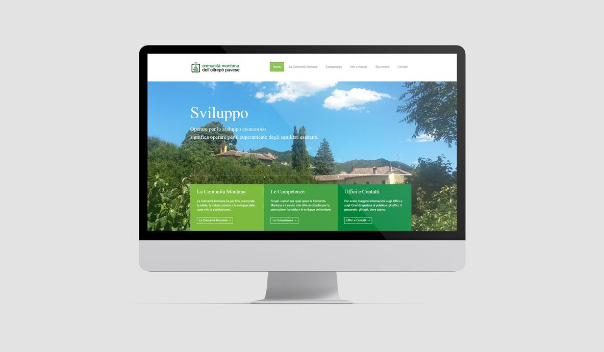 Realizzazione siti internet - Cmop - Homepage desktop