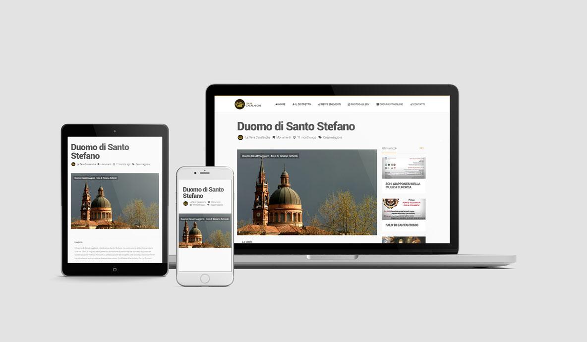 Realizzazione siti internet - Distretto Terre Casalasche - Sezione Luoghi di interesse multidevice