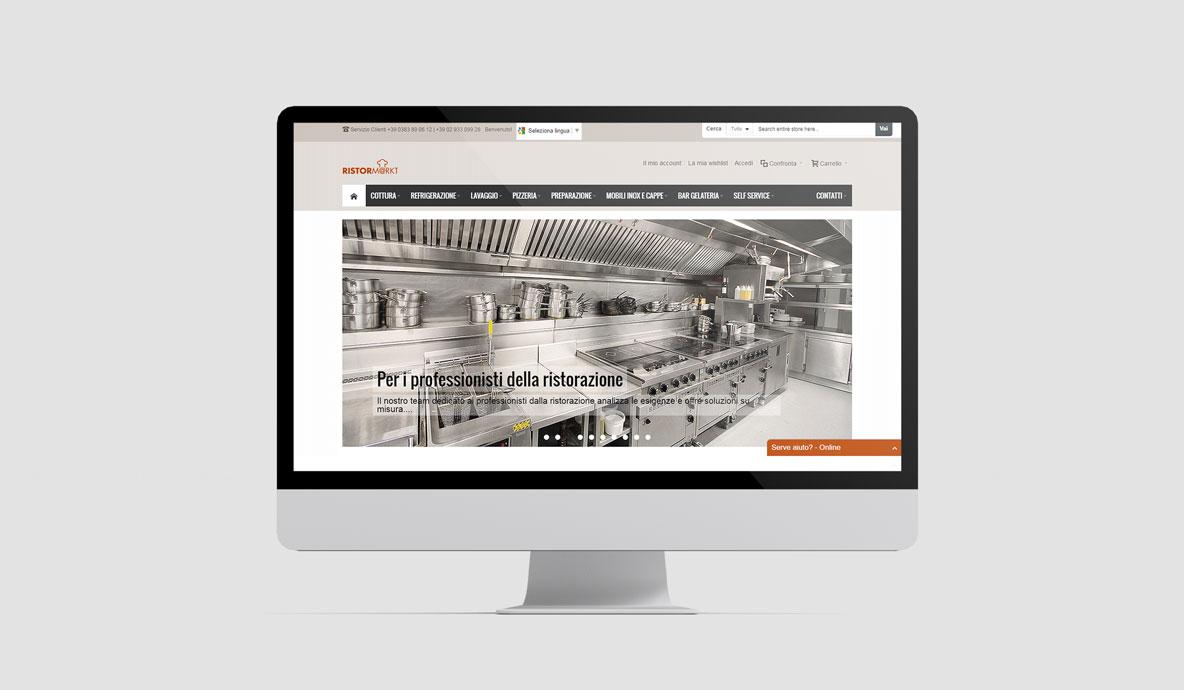 Realizzazione siti internet. Ristormarkt.it - Homepage desktop