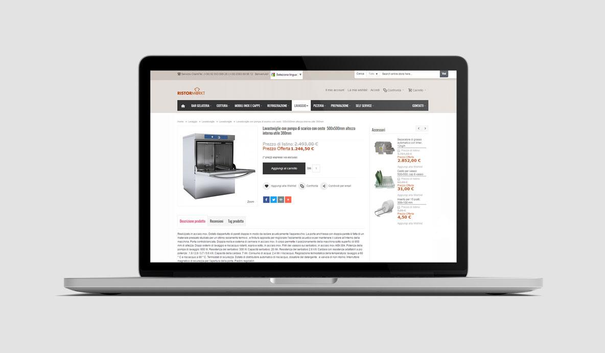 Realizzazione siti internet. Ristormarkt.it - Scheda prodotto